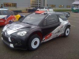 La Citroën DS3 WRC de Kimi Räikkönen. Pas de Red Bull en vue