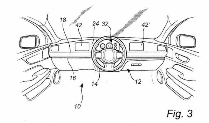 Volvo dépose un brevet de volant pouvant coulisser de gauche à droite