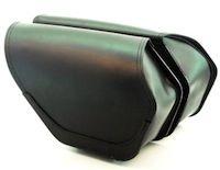 Ledrie: sacoche cuir pour Harley Davidson Dyna.