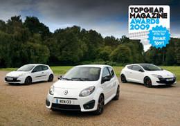 Renault Sport, meilleur constructeur 2009 pour Top Gear Magazine