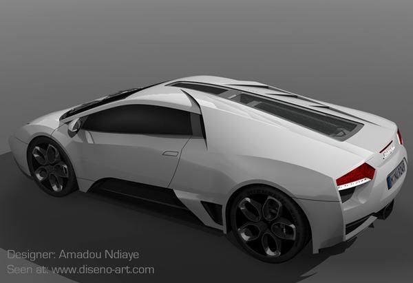 Design : Lamborghini Furia par Amadou Ndiaye
