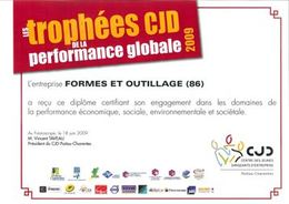 Les Trophées CJD de la performance globale 2009 : les véhicules d'Eco&Mobilité à l'honneur