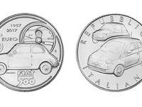 Fiat dévoile une pièce de 5€ à l'effigie de la 500
