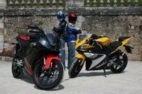 Yamaha YZF-R vs Derbi GPR : le match en vidéo