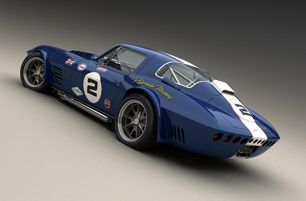 Rendus 3D : Chevrolet Corvette Grand Sport 1964 par Vizualtech
