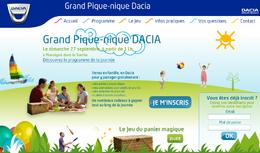 La 1ère édition du Grand Pique-nique Dacia planifiée à la rentrée