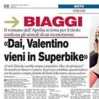 Moto GP: Biaggi réclame Rossi et Capirossi en Superbike