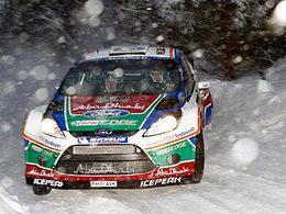 WRC Suède shakedown : Henning Solberg (Fiesta WRC) devant, les chronos très proches