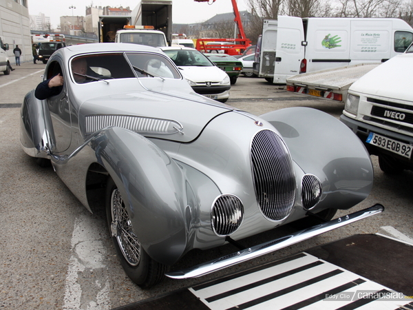 Photos du jour : Talbot-Lago T150C-SS Teardrop (Retromobile)