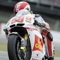 Moto GP - Catalogne Qualifications: Marco Simoncelli vous salue bien