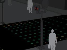 Philips développe un passage pour piétons qui prévient de l'arrivée d'un véhicule électrique