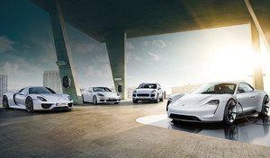 Porsche fait la promotion deses autos hybrides et électriques