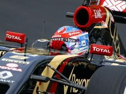 F1 : Romain Grosjean avec Lotus en 2015
