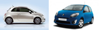 Duel virtuel: Renault Twingo II vs. Fiat 500