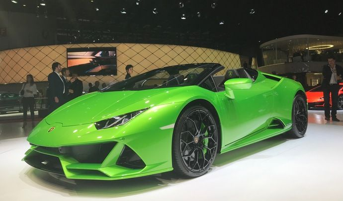 Lamborghini Huracan Evo Spyder : vent de folie – Vidéo en direct du salon de Genève 2019
