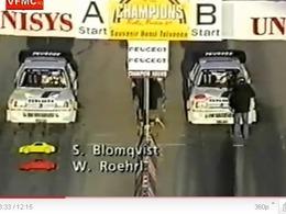 Finale de la Race of Champions 1989 : Walter Rohrl vs Stig Blomqvist en Peugeot 205 T16 E2