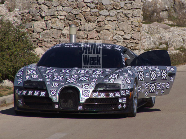 La future Bugatti Chiron de sortie