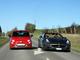 Abarth 695 Tributo Ferrari - Ferrari California : 2 visions différentes du charme italien