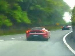[Vidéo] Batailles de Ferrari 430 sur route ouverte, c'est mal mais c'est joli