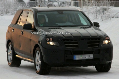 [Vidéo] Le prochain Mercedes ML dans la neige