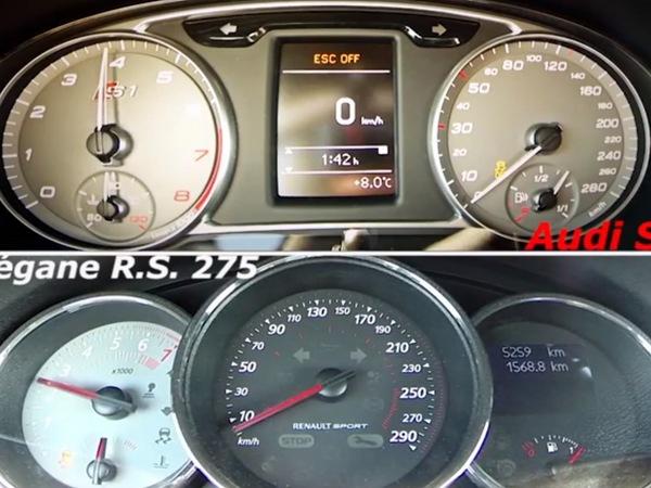 Accélération : Audi S1 vs Renault Megane R.S 275
