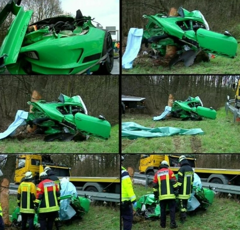 terrible crash d une porsche 911 gt3 rs en allemagne deux. Black Bedroom Furniture Sets. Home Design Ideas