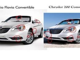 Insolite : les Flavia Cabrio et Grand Voyager dévoilés par Lancia sont de simples photoshops