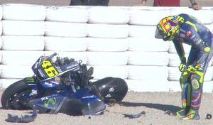 MotoGP – Test Valence: grosse chute mais sans gravité pour Rossi