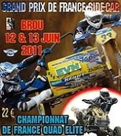 Championnat du monde de side-car cross ce week-end à Brou