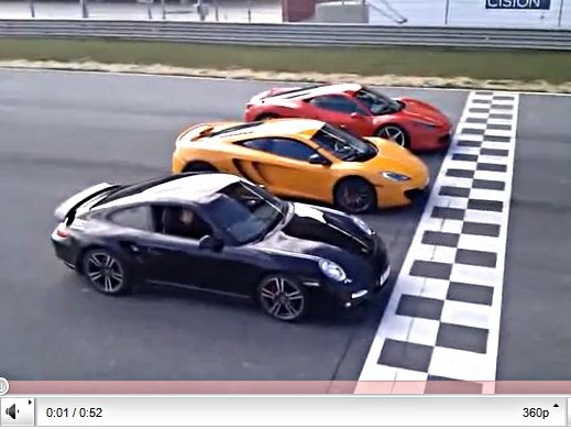 [vidéo] une McLaren MP4-12C humilie une Ferrari 458 Italia et une Porsche 911 Turbo