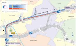 La voie consacrée aux taxis et bus sur l'A1 de nouveau opérationnelle