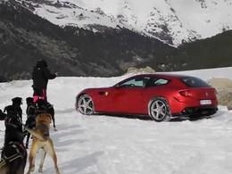 Spyshot : la Ferrari FF espionnée et suivie en traîneau à chiens !