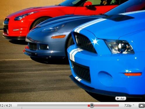 Nissan GT-R vs Chevy Corvette Z06 vs Shelby GT500 : old school ou nouvelle vague ?