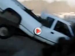 [Vidéo] Un joli crash pour un saut raté en Chevrolet Silverado