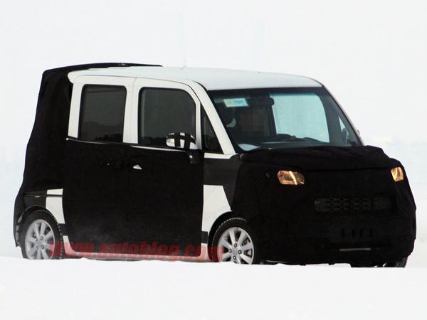 Spyshot : une curieuse petite auto en préparation chez Kia