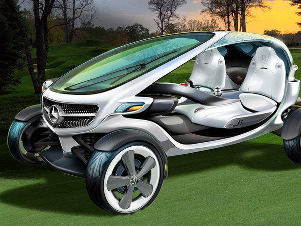 La voiture de golf vue par Mercedes