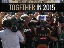 F1 : Romain Grosjean officialise sa présence chez Lotus en 2015