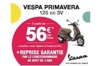 Vespa : offre de financement Direct Ride valable sur la gamme 125 cm3 et 300 cm3