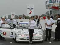 Sébastien Loeb et Fabien Barthez en Porsche Carrera Cup