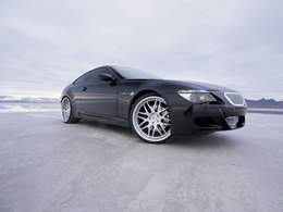 BMW M6, sur la glace..