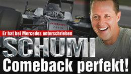 Le retour de Schumi : pour Bild, c'est signé !