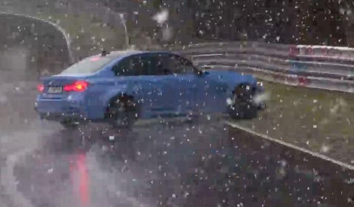 Neige et BMW M3 ne font pas bon ménage sur le Nürburgring