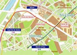 Région Île-de-France : le prolongement du Tramway T2 à la Porte de Versailles mis en service fin novembre 2009