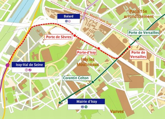 R gion le de france le prolongement du tramway t2 la for Salon porte de versailles horaires