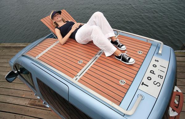 VW Caddy Topos Sail : le Caddy bain de soleil