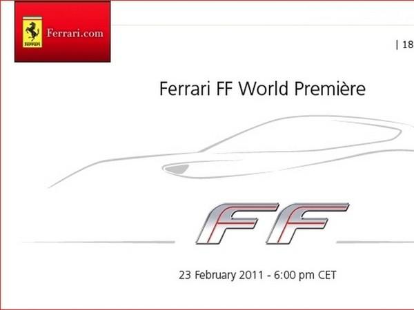 Tout sur la Ferrari FF : rendez-vous le 23 février prochain