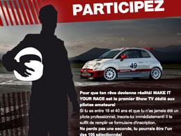 """Devenez pilote avec Abarth grâce à """"Make it your race 2012""""!"""