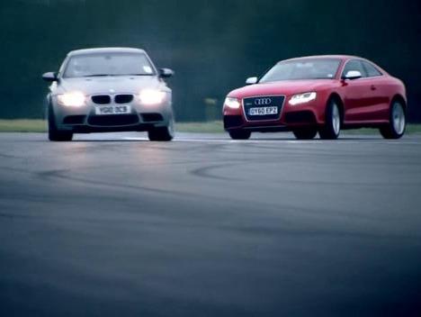 Top Gear : BMW M3 Competition Pack vs Audi RS5, survirage contre sous-virage