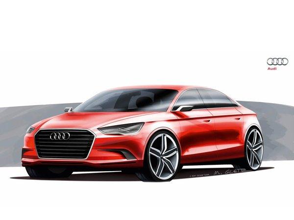 Genève 2011 : Audi A3 Concept, premiers dessins