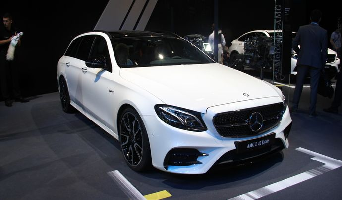 mercedes classe e 43 amg break entre deux en direct du mondial de l 39 auto 2016. Black Bedroom Furniture Sets. Home Design Ideas